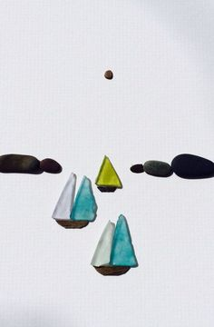Sea glass picture Sharon nowlan pebble art of Nova Scotia with sea by PebbleArt, Sea Glass Crafts, Sea Crafts, Sea Glass Beach, Sea Glass Art, Stone Crafts, Rock Crafts, Pebble Pictures, Sea Art, Driftwood Art