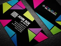 Color Blocked Business Card Design by Pei Ru Chang, via Behance