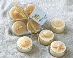 Shell candle party favors