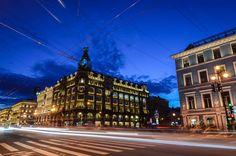 White Nights ,Singer building, Nevsky Prospect, SP