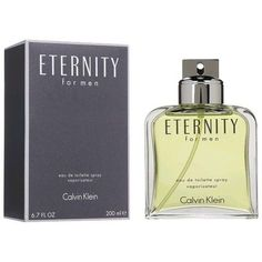 Eternity Cologne by Calvin Klein 6.7 oz EDT Spray for Men SEALED NEW IN BOX #CalvinKlein