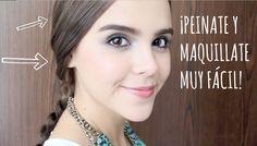 MAQUILLAJE CON PEINADO FÁCIL Y NATURAL PARA SALIR CON TUS AMIGAS ♥ - Yuya