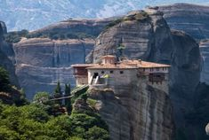 Meteora, Greece monestery    dates back to the 14th century !!!    Travel Inspiration: Metéora, Greece