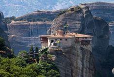 Meteora, Greece monestery    dates back to the 14th century !!!    Travel Inspiration: Metéora, Greece