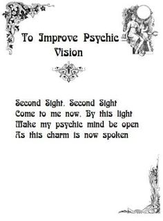 Improve psychic vision