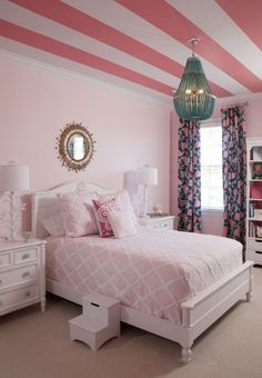 Pin for Later: Kid's Room Decor Ideas You Never Thought Of Striped Ceilings A child's room is one place to take paint risks.  Photo by Allison Potter via Style Me Pretty