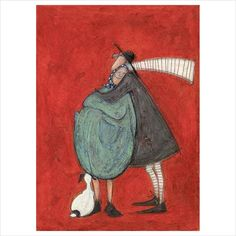A lovely new signed limited edition artwork from artist Sam Toft, I Will Always Love You perfect to show how much you love them! Framed with free UK Delivery. Quirky Art, Whimsical Art, Simple Cartoon, Encaustic Art, Illustration, Naive Art, Always Love You, Love Painting, Oeuvre D'art