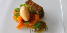 This beautiful dessert from Alan Murchison pairs a moist pistachio and olive oil cake with sweet apricots to stunning effect