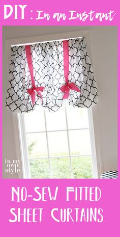 Glorious Make Rod Pocket Curtains Ideas. Enchanting Make Rod Pocket Curtains Ideas. Sheet Curtains, No Sew Curtains, How To Make Curtains, Rod Pocket Curtains, Gio Ponti, Sewing Fitted Sheets, Rental Home Decor, Balloon Curtains, Homemade Curtains