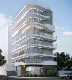Residential project in the South Zone of Rio de Janeiro. - Different and beautiful ideas Condominium Architecture, Facade Architecture, Residential Architecture, Amazing Architecture, Contemporary Architecture, Contemporary Design, Modern Design, Casa Hotel, Residential Building Design