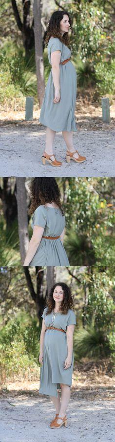 two seam maternity dress