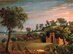 VIEW OF MT. VERNON AND GEORGE WASHINGTON'S TOMB | American Folk Art Museum