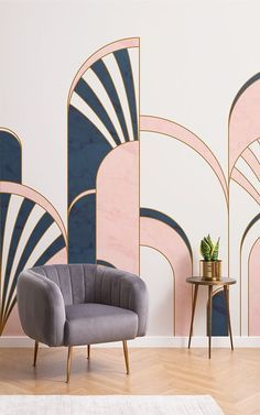 If you appreciate the exuberance of the Art Deco style and wish to incorporate t. - If you appreciate the exuberance of the Art Deco style and wish to incorporate this into your home t - Motif Art Deco, Art Deco Print, Art Deco Pattern, Art Deco Design, Art Deco Wall Art, Art Deco Decor, Art Deco Colors, Casa Art Deco, Art Deco Stil
