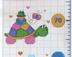 Gallery.ru / Фото #46 - 089 - mornela Cross Stitch Baby, Projects To Try, Kids Rugs, Quilts, Crossstitch, Deco, Cross Stitch Designs, Tortoises, Cross Stitch Embroidery