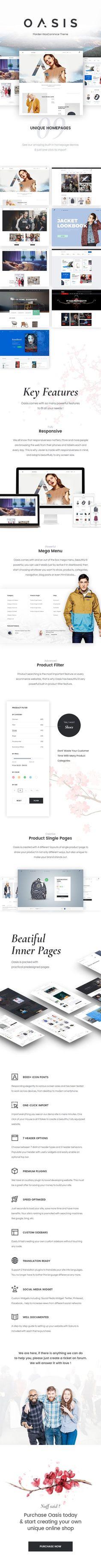 Oasis - Modern WooCommerce Theme #wordpress #shop #professional • Download theme ➝ https://themeforest.net/item/oasis-modern-woocommerce-theme/18401438?ref=rabosch