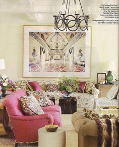 Pavoncelli Town & Country Markham Roberts living room by The Estate of Things, via Flickr