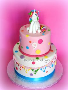 Le torte decorate di Cetty G: torta unicorno...