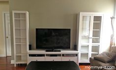 ikea entertainment unit, hemnes tv stand, family room entertainment unit, family room tv stand, bookshelves