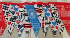London bunting-Union Jack bunting-Red white by VillageCraftEngland