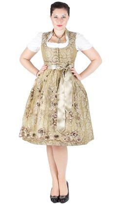 Tramontana Dirndl midi gold Gold, Vintage, Style, Fashion, Dirndl, Mandarin Collar, Swag, Moda, Fashion Styles