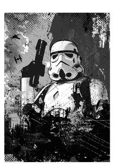 Star Wars Stormtrooper imperial soldier Black and by 2ToastDesign