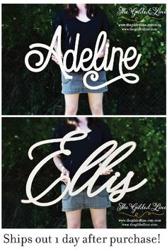DIY baby name signs ship out within 24 business hours after purchase. Nursery Signs, Nursery Room Decor, Nursery Ideas, Baby Name Signs, Decor Ideas, Craft Ideas, Business Products, Diy Signs, Diy Arts And Crafts