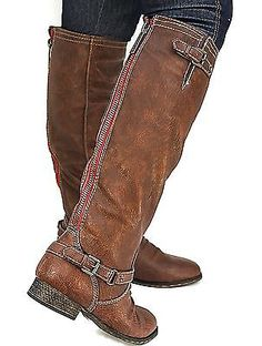 Love these because they are much taller than my ones i bought last year, wearing these for family Pictures?New Womens BO81 Red Zipper Tan Buckle Riding Knee High Boots USA Sz 5.5 to 11 in Clothing, Shoes & Accessories | eBay
