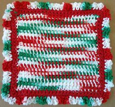 #199 Holiday Ruffles Crochet Dishcloth – Maggie Weldon Maggies Crochet