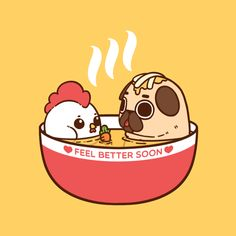 Chicken Noodle Pug Soup…bath? °˖ ✧ ∠(◉♔◉U 」∠)_ ✧ ˖ °