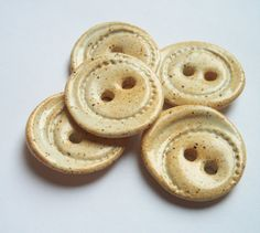 Good Morning Oats Ceramic Buttons by buttonalia on Etsy, $15.00