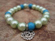 Mother's Day Bracelet//Turquoise by MakeMeSmileJewelry on Etsy, $35.00