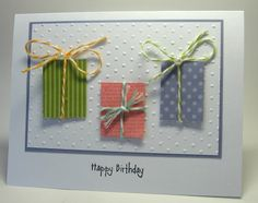 stamping up north- Quick & Easy birthday card that helps use up scraps.
