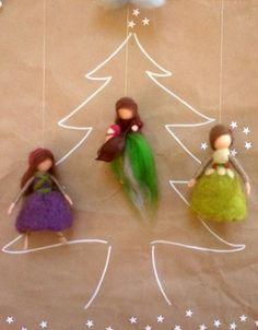 Woodland Fairy Christmas Tree Ornament Waldorf by MyJacobsLadder