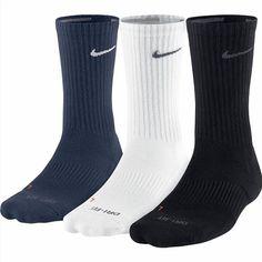 24.98$  Buy here - http://vibqn.justgood.pw/vig/item.php?t=z3nqttk59886 - Nike Unisex Dri FIT Triple Fly Socks 3 Pack Cushioned Black White Blue