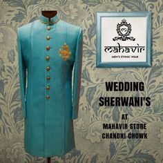 To buy visit our store in Chandni Chowk or inbox to book an appointment with our Fashion Consultant. Mens Sherwani, Wedding Sherwani, Wedding Wear, Dream Wedding, Gents Kurta, Mens Ethnic Wear, Groom Wear, Wedding Season, Cool Designs