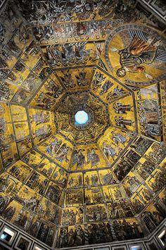 Battistero di San Giovanni Ceiling, Florence, Italy