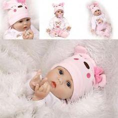 "Lifelike Reborn Baby Doll 22"" Baby Doll Vinyl Kids Baby Surprised Gifts"
