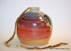 Yarn jug, Sally Jenks White Feathers, Ceramic Artists, Sally, Stoneware, Pottery, Vase, Ceramics, Studio, Beautiful
