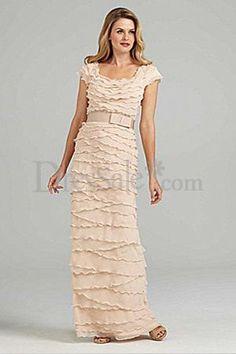 Fabulous Chiffon Column Mother of the Bride Dress