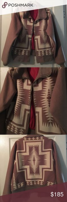 VINTAGE RARE Pendleton Wool Western Coat So vintage and so priceless! This is a GUARANTEED Pendleton Woolen Mills tan and creme geometric patterned, high grade western wear coat. So warm, and it's almost wintertime! Once in a lifetime jacket! Pendleton Jackets & Coats