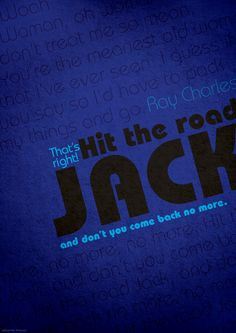 Hit the road jack ray charles 1961