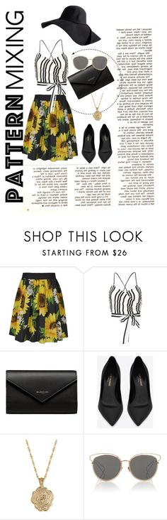 """""""Pattern Mixing // Spring Has Sprung"""" by chelsea-doughman ❤ liked on Polyvore featuring Alice by Temperley, Alice + Olivia, Balenciaga, Yves Saint Laurent, 2028 and Christian Dior"""