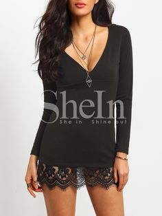 Shop Black V Neck Lace Bodycon Dress online. SheIn offers Black V Neck Lace Bodycon Dress & more to fit your fashionable needs.