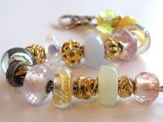 """Tartooful's """"Golden Ice"""" Trollbeads bracelet..."""