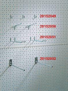 Árutartó perforált lemezhez - Dexion jellegű polc perforált lemez kampók