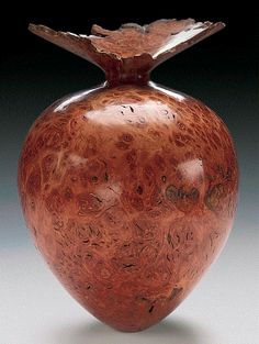 Kim Blatt Woodturning : Vessel Gallery Two : Natural Edge Jarrah Burl Vessel