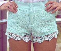 Strut your stuff in high-waisted shorts, denim cutoffs, lace shorts, hot pants & more! Shop womens shorts at Nasty Gal, for casual days or crazy nights out. Mint Shorts, Lace Shorts, Short Shorts, Crochet Shorts, Summer Shorts, Pastel Shorts, Scallop Shorts, Bright Shorts, Dressy Shorts