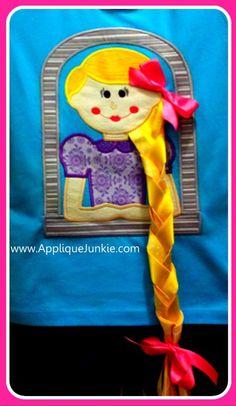 3-D Rapunzel Applique-Applique Junkie $4