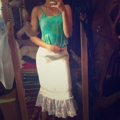 Cotton and lace skirt  High wasted stunning mermaid skirt. Just a little wrinkled Clio Skirts Midi