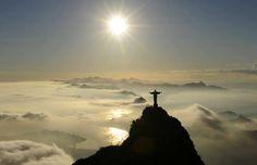 Amanhecer no Rio, Cristo Redentor, Corcovado - Rio de Janeiro - Brasil